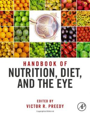 A capa do livro Handbook of Nutrition, Diet and the Eye