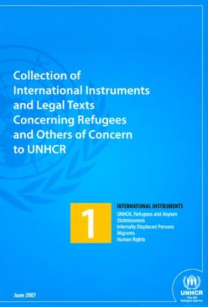 Portada del libro Collection of International Instruments and Legal texts Concerning Refugees and Others of Concern to UNHCR (Set of Four Volumes)