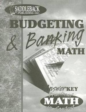 表紙 Budgeting & Banking Teacher Notes (Practical Math in Context)