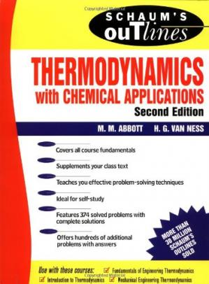 Book cover Schaum's Outline of Thermodynamics With Chemical Applications (Schaum's Outline Series)