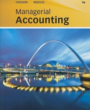 Kitabın üzlüyü Managerial Accounting