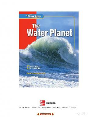 Book cover Glencoe Science: The Water Planet, Student Edition