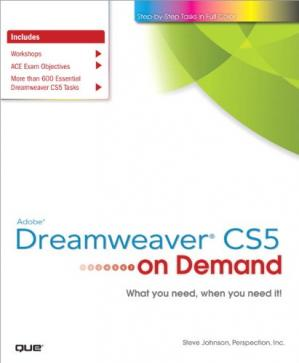 Portada del libro Adobe Dreamweaver CS5 on Demand