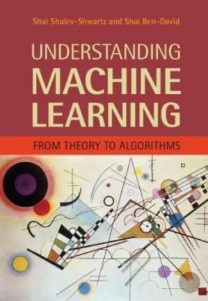 书籍封面 Understanding Machine Learning: From Theory to Algorithms