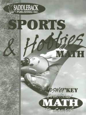 Portada del libro Sports & Hobbies Math - Teacher Notes (Practical Math in Context)