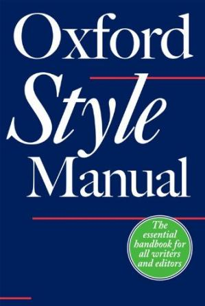 Copertina The Oxford Style Manual