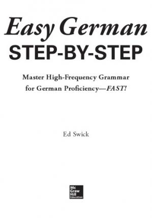 Book cover Easy German Step-by-Step