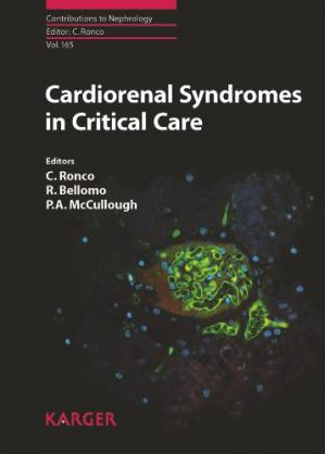 Обкладинка книги Cardiorenal Syndromes in Critical Care (Contributions to Nephrology, Vol. 165)