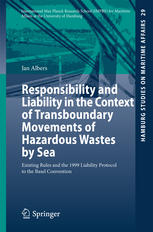 Portada del libro Responsibility and Liability in the Context of Transboundary Movements of Hazardous Wastes by Sea: Existing Rules and the 1999 Liability Protocol to the Basel Convention