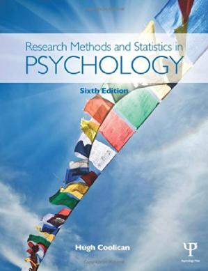 Book cover Research Methods and Statistics in Psychology