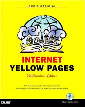 Book cover Que's official Internet yellow pages