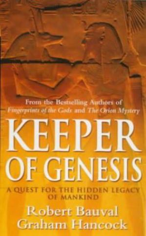 Copertina Keeper of Genesis: A Quest for the Hidden Legacy of Mankind