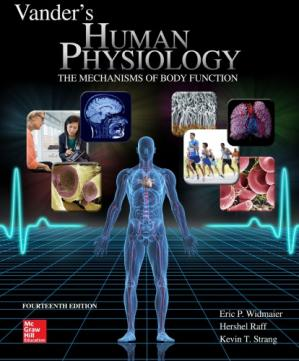 Book cover Vander's Human Physiology: The Mechanisms of Body Function