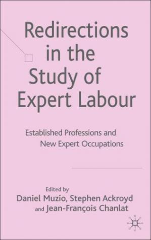 A capa do livro Redirections in the Study of Expert Labour: Established Professions and New Expert Occupations