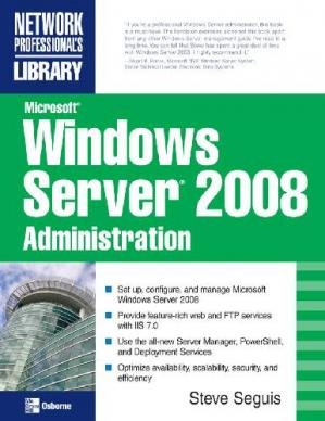 Kitabın üzlüyü Microsoft Windows Server 2008 Administration