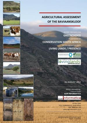 Book cover BAVIAANSKLOOF: Agricultural Assessment