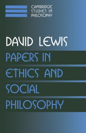 A capa do livro Papers in Ethics and Social Philosophy