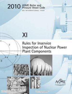 Book cover ASME BPVC 2010 - Section XI: Rules for Inservice Inspection of Nuclear Power Plant Components