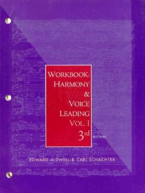 Εξώφυλλο βιβλίου Workbook: harmony and voice leading