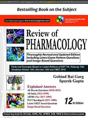 Book cover Review of Pharmacology (PGMEE)