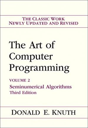 Book cover The art of computer programming. Vol.2. Seminumerical algorithms
