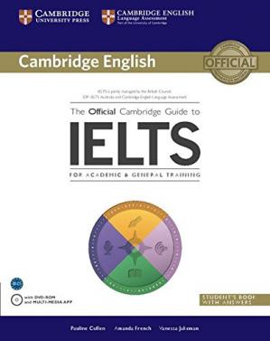 A capa do livro The Official Cambridge Guide to IELTS - Student's Book with Answers