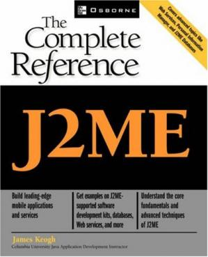 Book cover J2ME, the complete reference