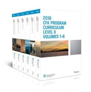 غلاف الكتاب CFA Program Curriculum 2018 Level II Volumes 1-6 Box Set