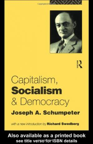 Book cover Capitalism, Socialism and Democracy