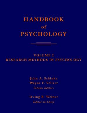 Book cover Handbook of psychology. Research methods in psychology