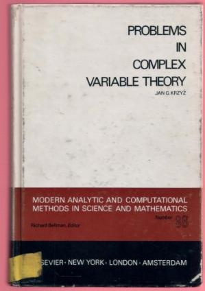 Book cover Problems in Complex Variable Theory