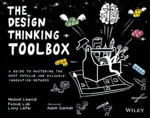 A capa do livro The Design Thinking Toolbox: A Guide to Mastering the Most Popular and Valuable Innovation Methods