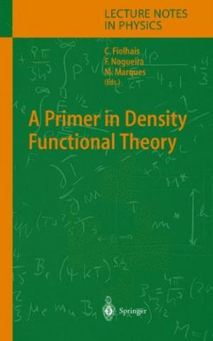 Обкладинка книги A primer in density functional theory
