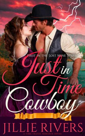 Обложка книги Just in Time Cowboy: A Time Travel Romance Novel
