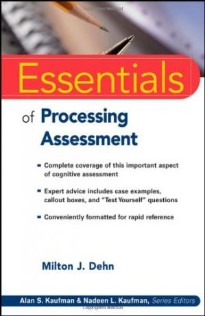 Book cover Essentials of Processing Assessment (Essentials of Psychological Assessment)