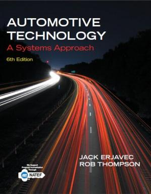 Book cover AUTOMOTIVE TECHNOLOGY A SYSTEMS APPROACH 6 t h E d i t i o n 2014