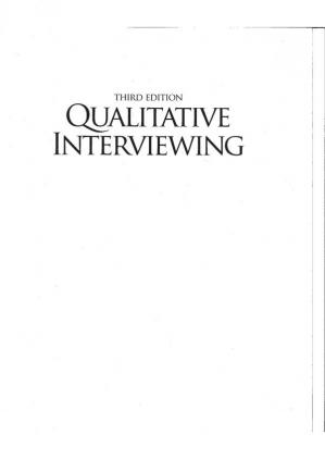 Book cover Qualitative Interviewing: The Art of Hearing Data