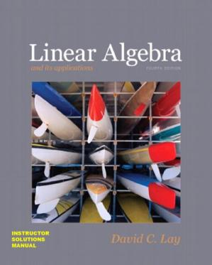 Book cover Instructor Solutions Manual (ISM) for Linear Algebra and Its Applications