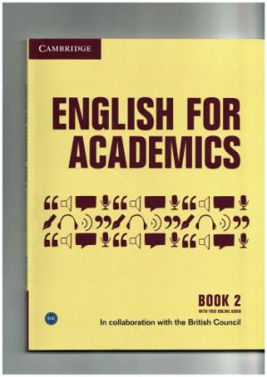 Book cover English for Academics Book 2