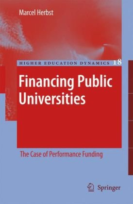 A capa do livro Financing Public Universities: The Case of Performance Funding (Higher Education Dynamics)