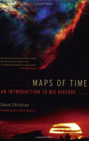 Book cover Maps of Time. Introduction to Big History