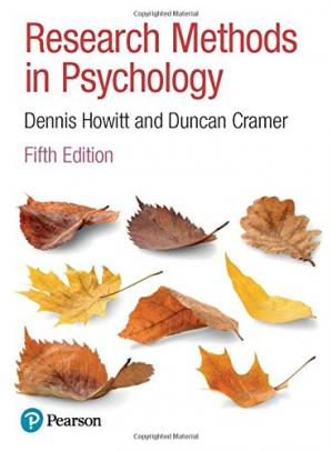 Book cover Research Methods in Psychology