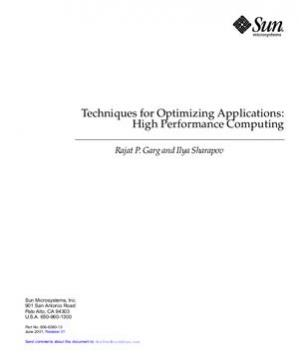 د کتاب پوښ Techniques for Optimizing Applications: High Performance Computing