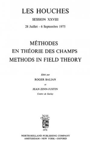 Couverture du livre Methods in Field Theory