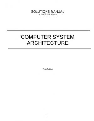 Book cover solution manual computer system architecture