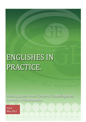 Couverture du livre Englishes in Practice