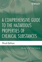 书籍封面 A comprehensive guide to the hazardous properties of chemical substances
