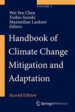 غلاف الكتاب Handbook of Climate Change Mitigation and Adaptation
