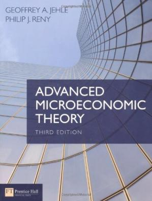 Book cover Advanced Microeconomic Theory, 3rd Edition
