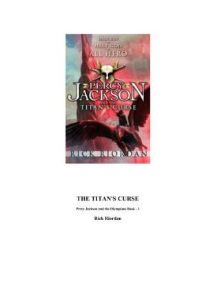 Book cover Percy Jackson & the Olympians The Titan's Curse